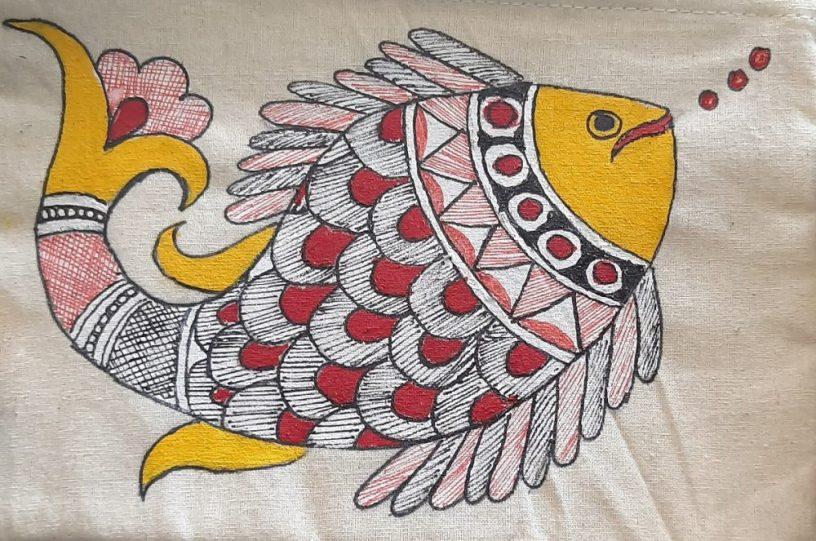 Canvas pouch by Arpita Dutta