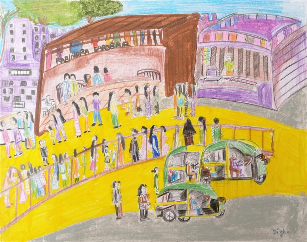 Paul School, Kolkata - one of the gold medal winners in the art contest result of Khula Aasmaan art contest