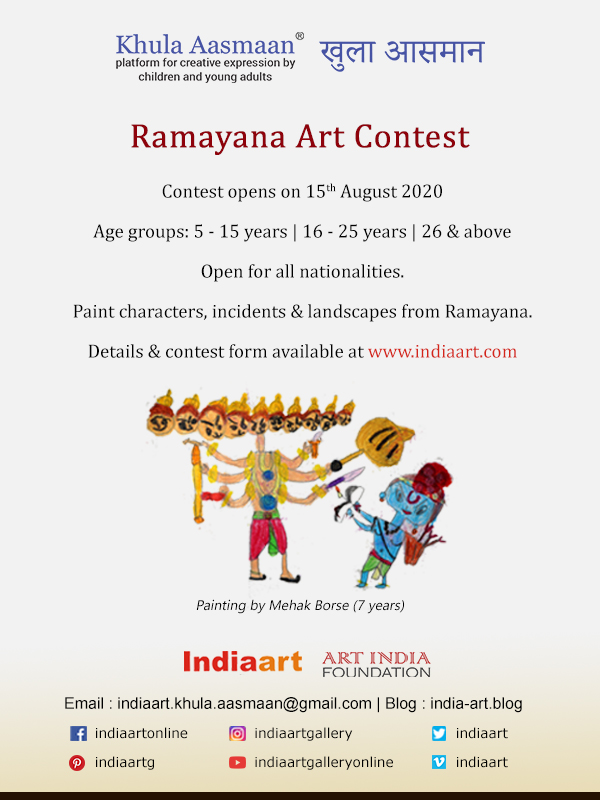 Ramayana Art Contest by Khula Aasmaan is an international painting competition for children, college students and others