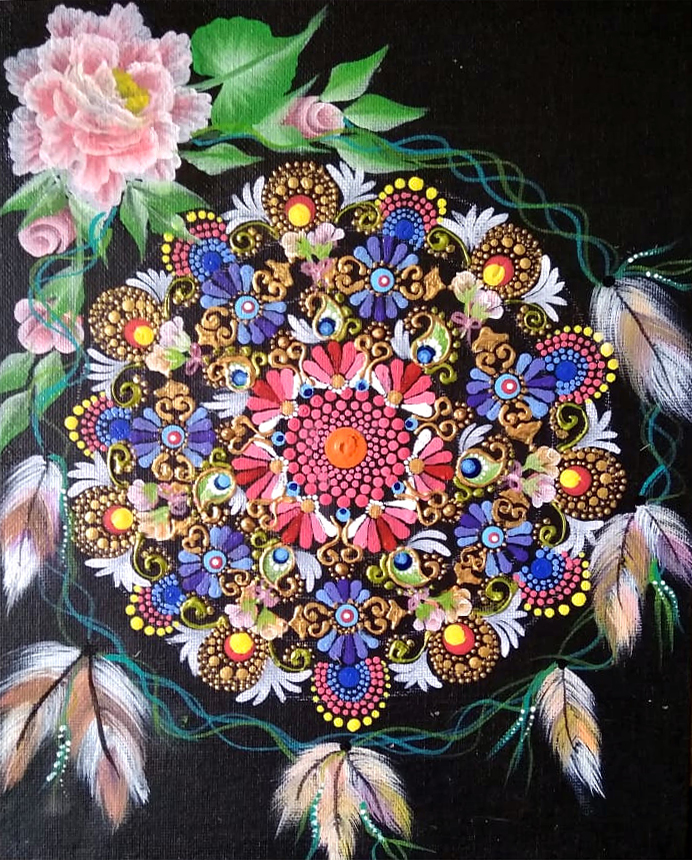 Mandala Art by Sivanvitha