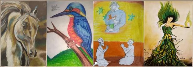 Day 20 of Coronavirus Lockdown Art Collection - part of Corona Art Initiative to fight coronavirus pandemic