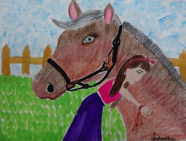 Painting by Asmi Walavalkar (9 years), Mumbai, Maharashtra - Bronze medal