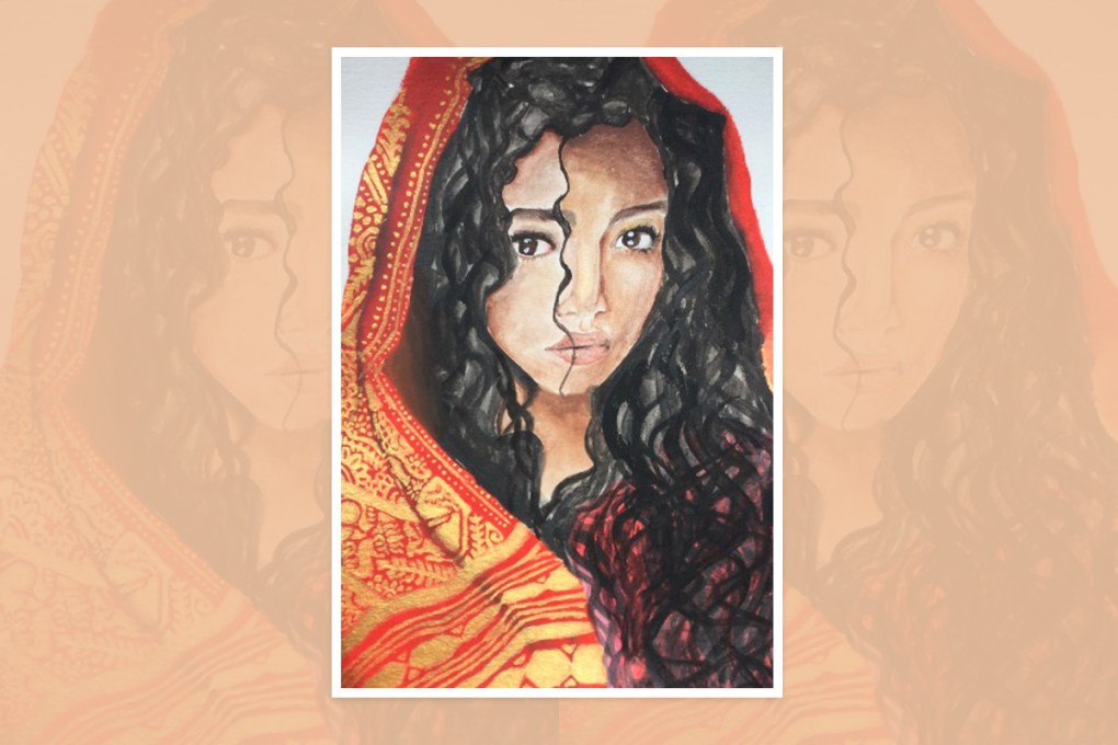 Painting by Ayaana Pradhan, Naperville,Illinois - shortlisted in national art contest in U.S.