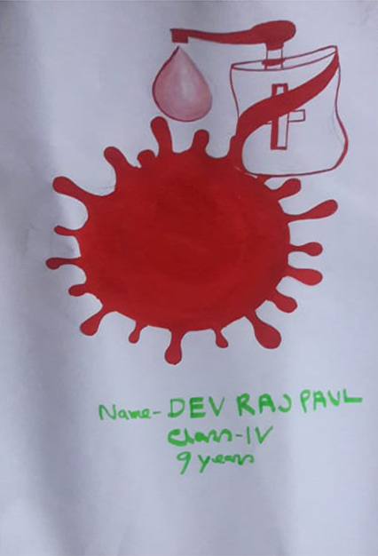 Painting by Devraj Paul (class 4), Silchar, Assam- art in the time of lockdown to fight covid pandemic - stay home, stay safe