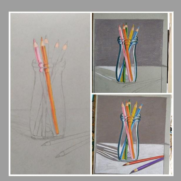 Progress of the artwork by Dr. Swati Bhatavadekar - activities during lockdown - art ideas on day 21