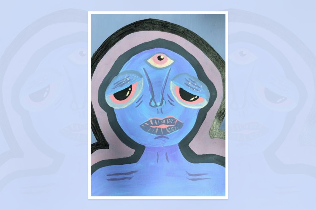 Artwork by Ishani Madhav - prize winning painting in national painting competition in U.S.