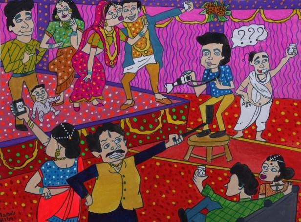 Painting by Manali Bhagwat (16 years), Badlapur, Maharashtra - Silver medal