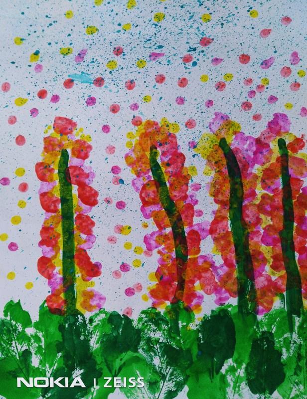 Painting by Shivangini Basak (5 years) - creative expression by children as part of Art in coronavirus lockdown