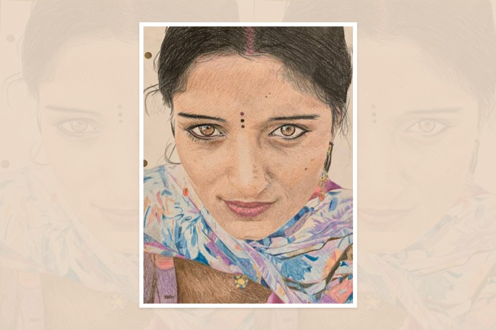 Painting by Shrithika Logeshwaran, Simi Valley, California - shortlisted in national art contest in U.S.