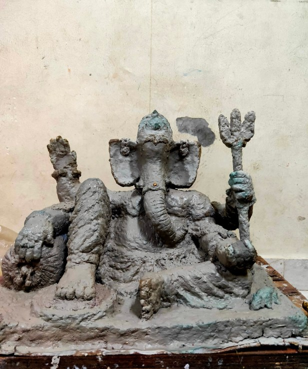 Ganesh idol by Suyash Wadke (class 9) from Sinhgad Spring Dale Public School, Vadgaon Budruk, Pune