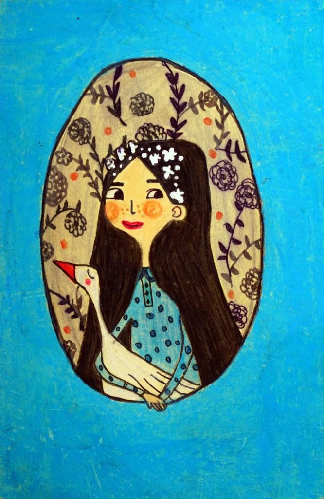 Art on Postcard by Ishika Gupta (15 years), Mumbai - featured on World Post Day