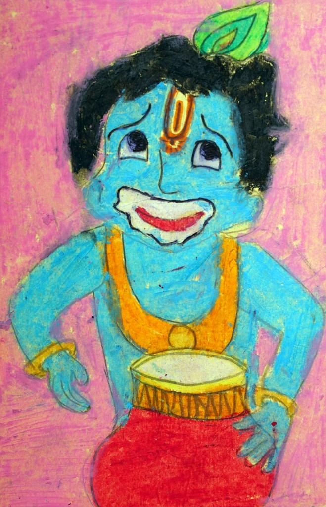 Painting on postcard by Samruddhi Kulkarni, Pune - featured on World Post Day