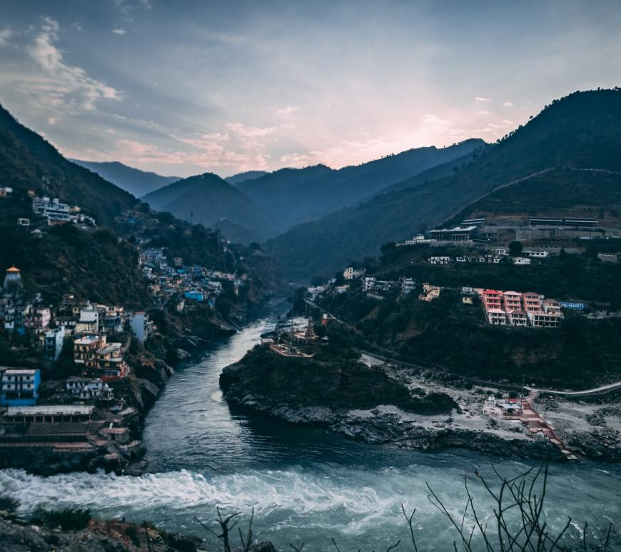 River confluences in India