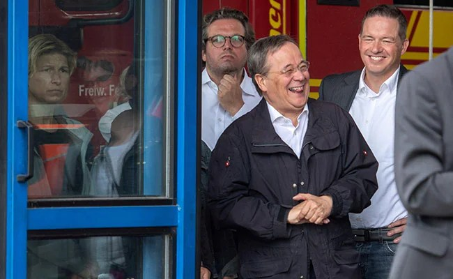 """""""Stupid, Regret It"""": German Leader On Laughing At Visit To Flood-Hit Town"""