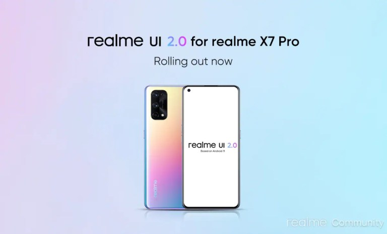 Realme X7 Pro Getting Android 11-Based Realme UI 2.0 Update in India