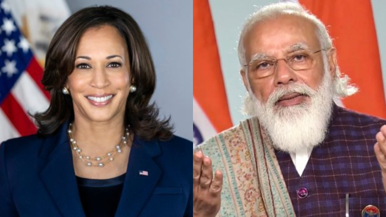 US to Make Covid-19 Vaccines Available for Others Including India: Kamala Harris Assures PM Modi