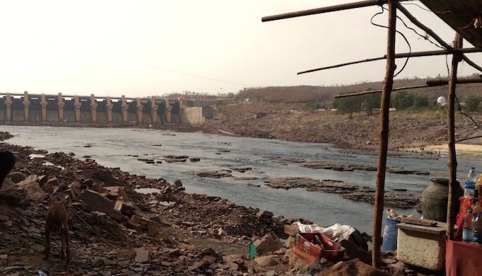 The Omkareshwar dam on the Narmada. Water was carried from here to make the Shipra flow again.