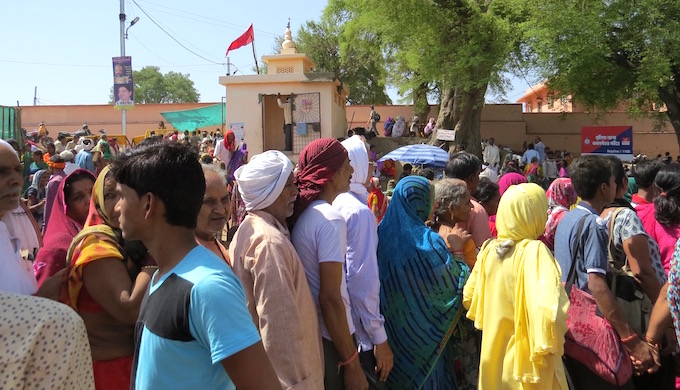 Pilgrims stood in queue for hours to visit the many temples around Ujjain.
