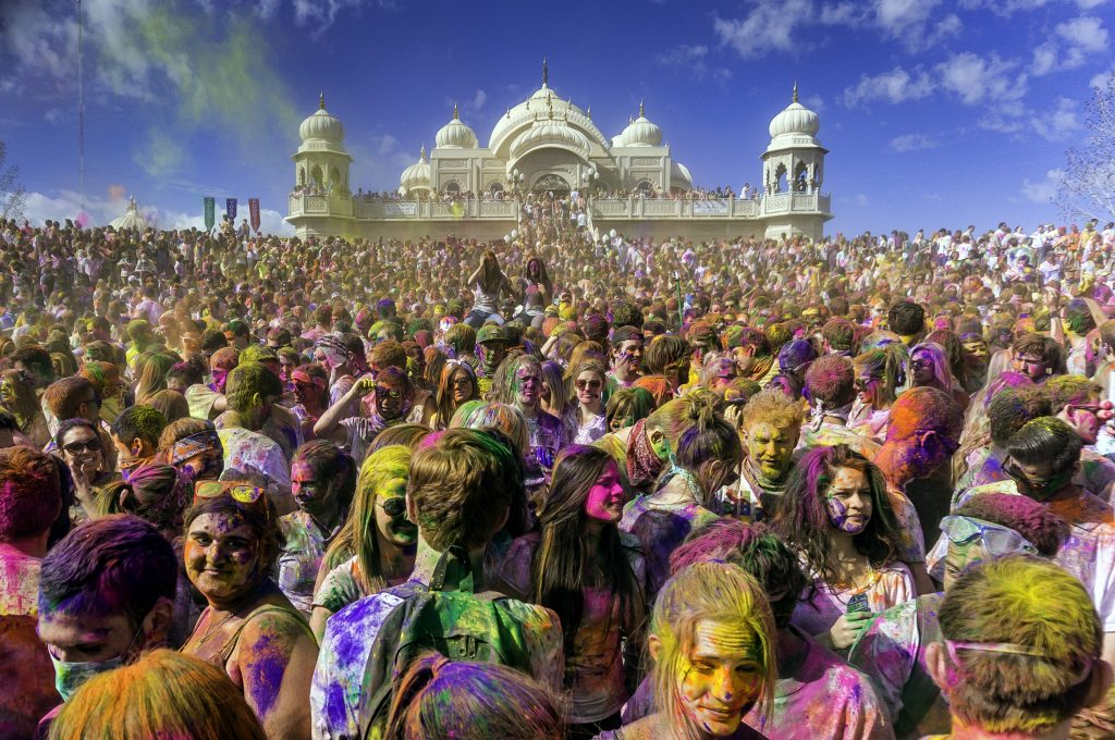 The festival of Holi celebrated with a splendor of colors
