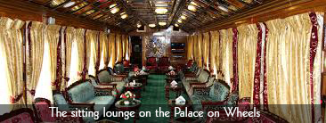 The sitting lounge on the palace on wheels