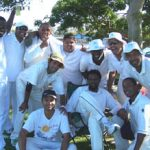 Multi-ethnic Team Bats for Cricket