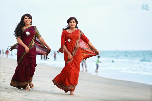 Transgender Sari Models Turn Heads