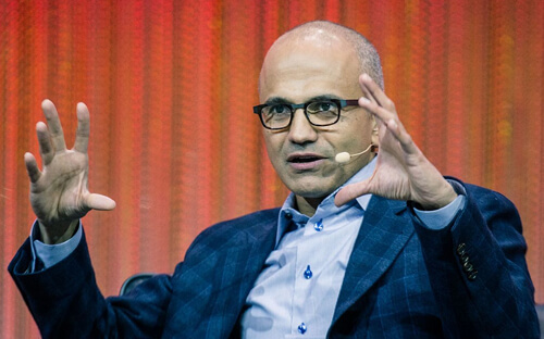 """Satya Nadella: """"The moment that forever changed our lives."""""""