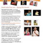 South India Fine Arts: Spring 2018 Season