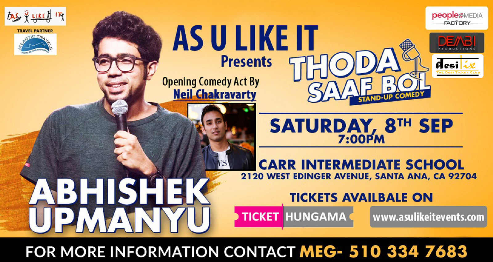 Comedian Abhimanyu Upamanyu Live!