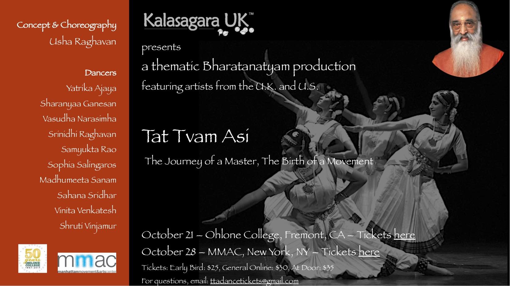 Tat Tvam Asi, a Bharatanatyam Dance