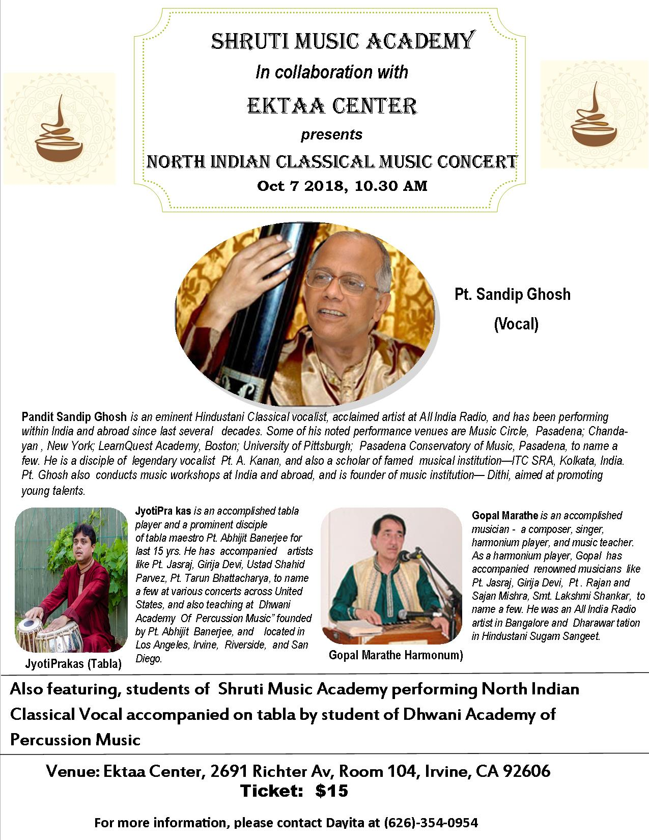 North Indian Classical Music Concert