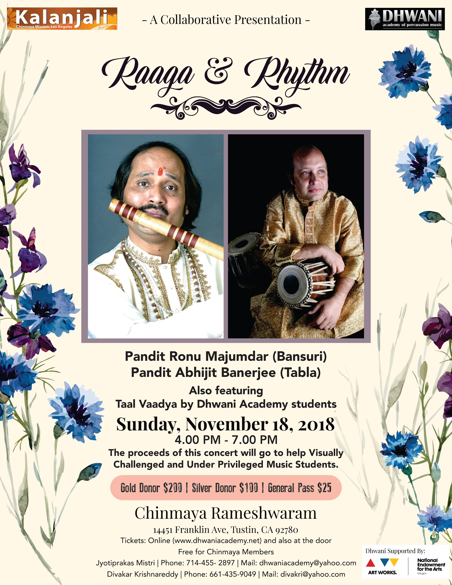 Raga and Rhythm - a flute and tabla concert