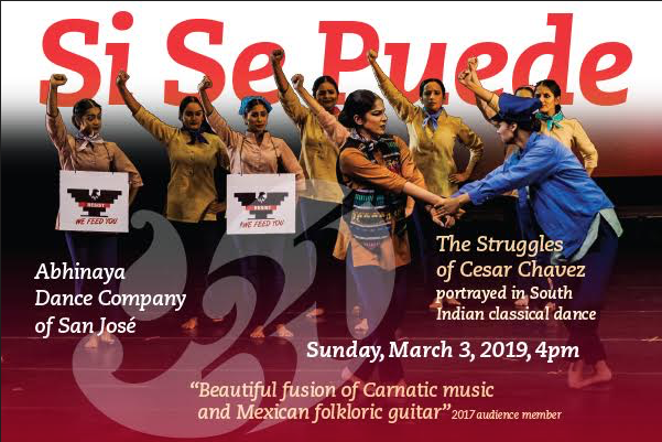 Abhinaya Dance Company of San Jose presents Si Se Puede