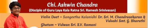 Ashwin Chandra Debut Mridangam Concert