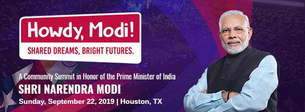 Say Howdy to Modi in Houston this September