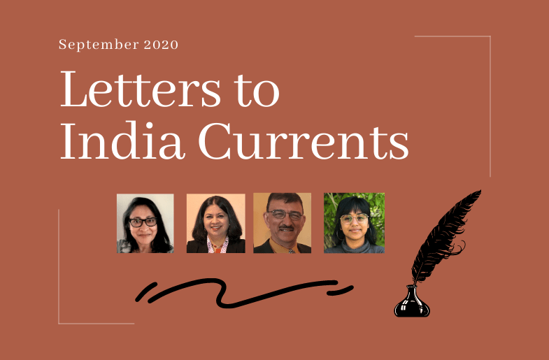 Letters to India Currents: 9/29/20