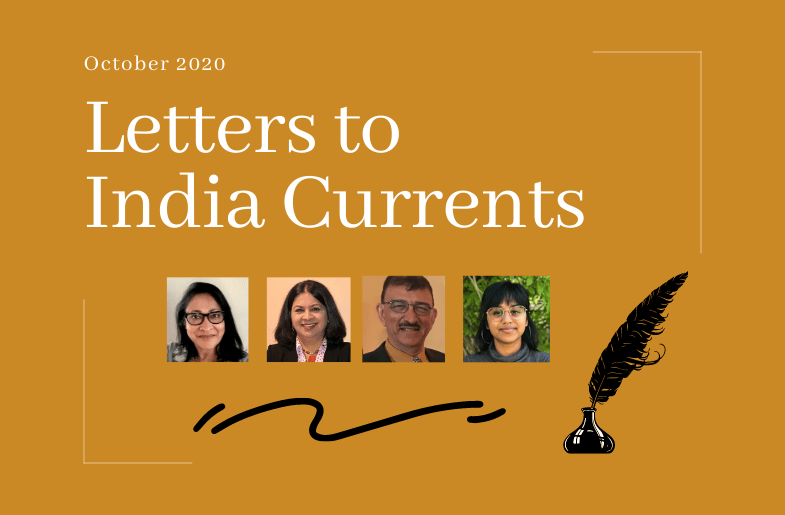 Letters to India Currents: 10/22/20