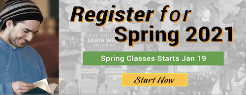 Register For Chabot College's Spring Semester Today