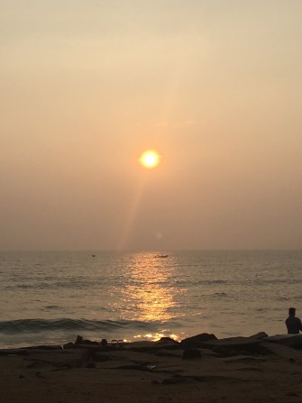 Sunset in Pondicherry - Image taken by Author