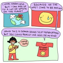 Aditi Mali's Comics for ReFashion Hub's Initiative