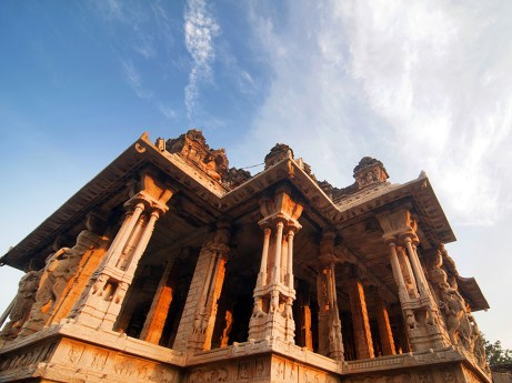 Ranga-mantapa is renowned for its musical pillars, each of which is 3.6 meters high.