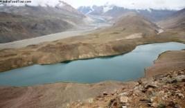 Chandrataal lake with Samudri Taapu in background