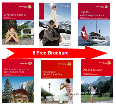 5 Free Brochures From Switzerland Tourism