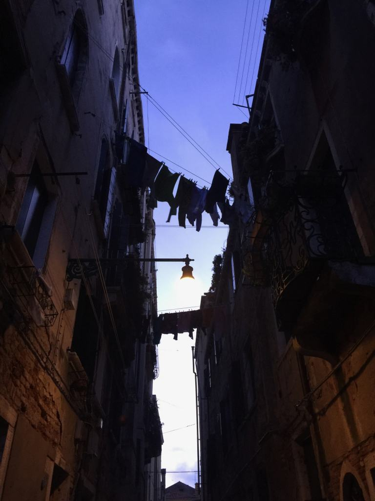 Clothes hanging at Sunset