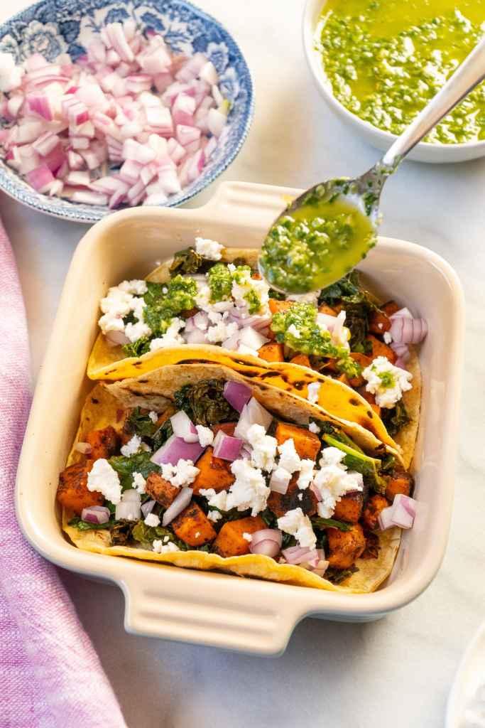 Kale and Sweet Potato Tacos