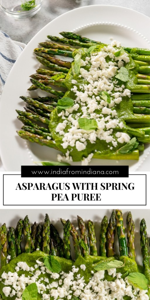 Asparagus with Sweet Pea Puree