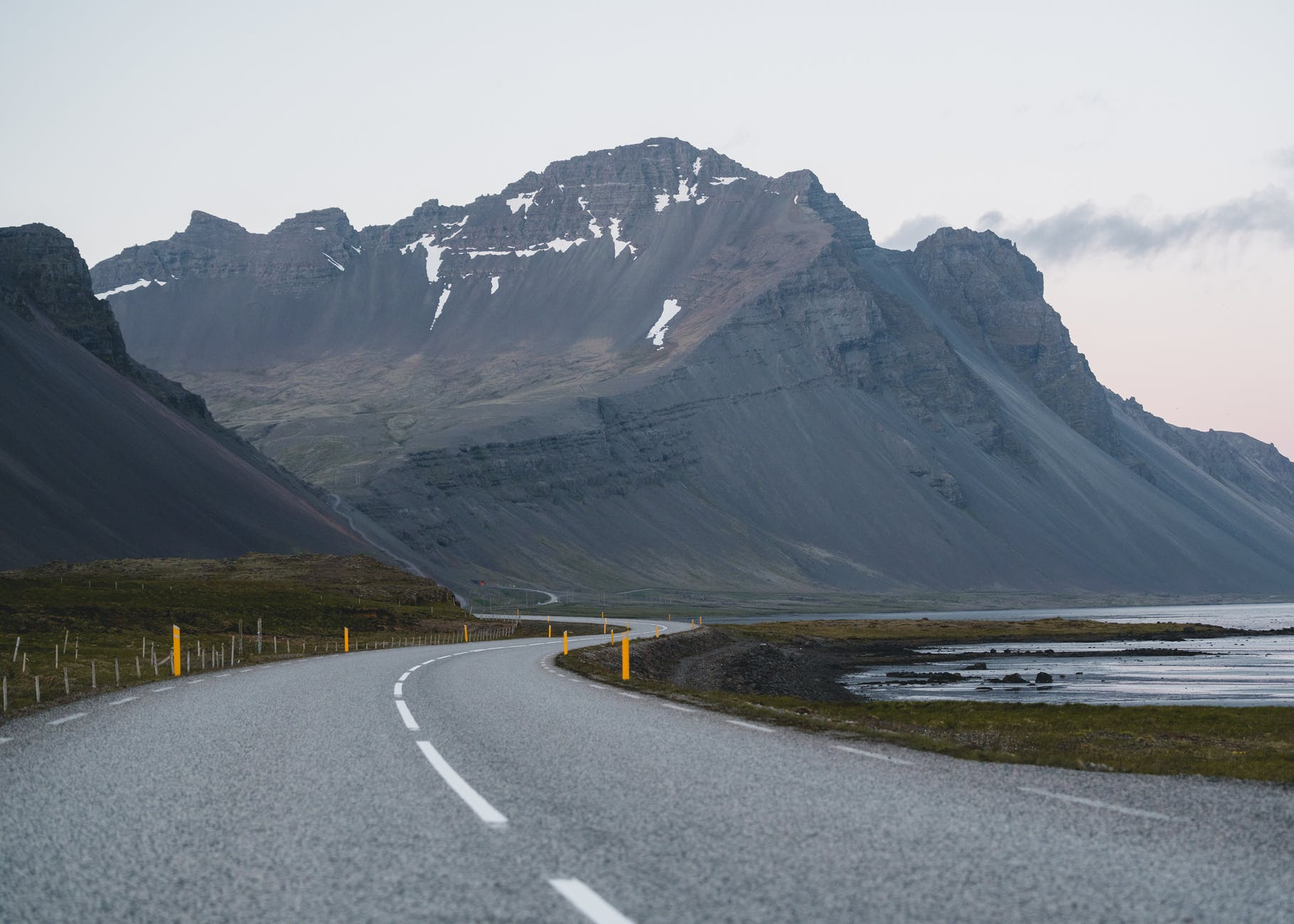 empty road against mountain background