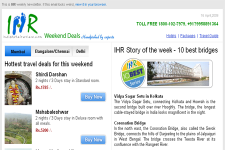 Newsletter of Indiahotelreview.com