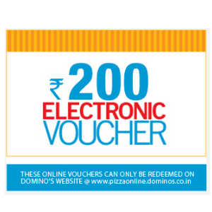 Free Rs 200 Dominos Voucher