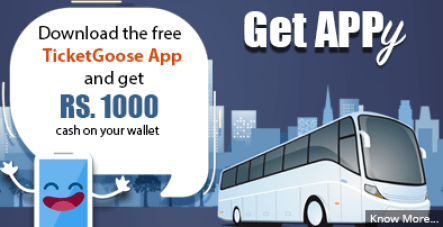 TicketGoose App Free Rs 1000 Credit Loot Offer
